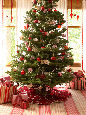 How to choose which christmas tree is right for you from for Red green gold white christmas tree