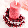 Cranberry Candle Arrangement
