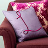 Velvet Trim Pillow