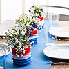 Three-Vase Patriotic Centerpiece