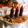 Autumn Candle Centerpiece with Nuts