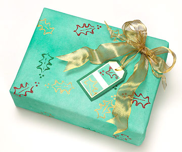 Make Your Own Stamps to Embellish Christmas Gift Wrap