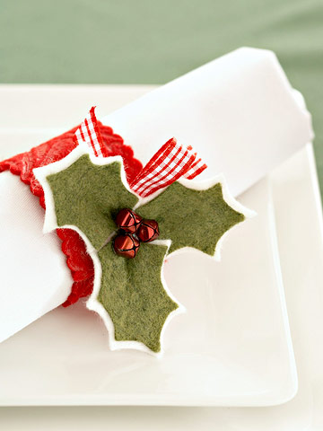 Christmas Holly Napkin Ring