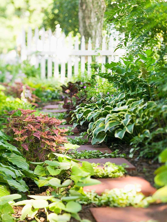 stunning shade garden design ideas - Flower Garden Ideas Partial Sun