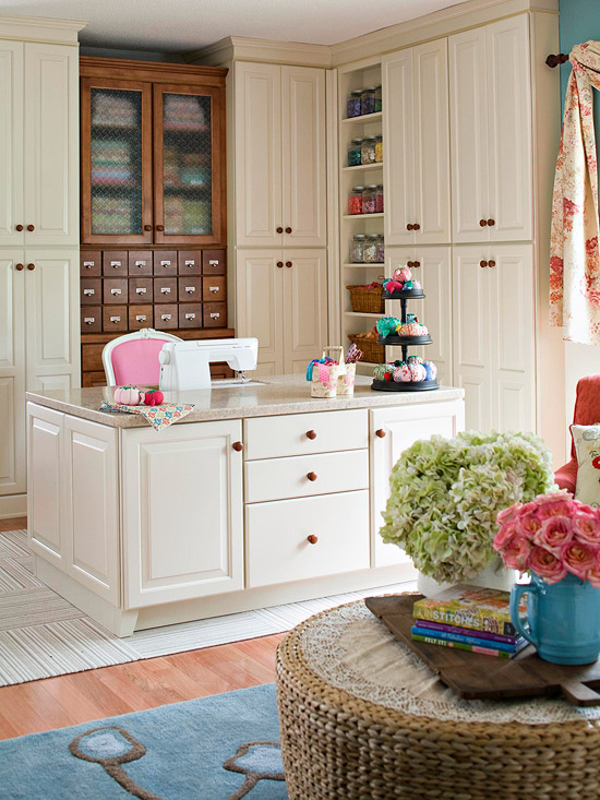 A Pretty Sewing Room Makeover
