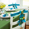 Blue Ribbon Chair and Napkin Accents
