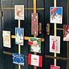 Christmas Card Door Display