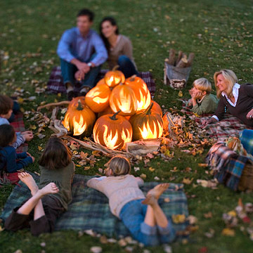 Exclusive Flame-Design Pumpkin Stencils from Better Homes and Gardens