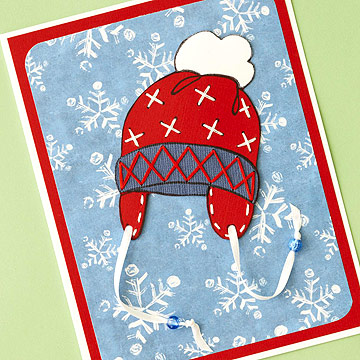 Make Stamp-and-Stitch Christmas Cards
