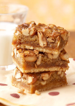 Gooey Mixed-Nut Bars