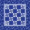 Blue-and-White Pinwheel Quilt
