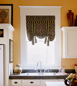 Update Your Kitchen with Colorful Fabric