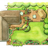 Stylish Entertaining Landscape Plan