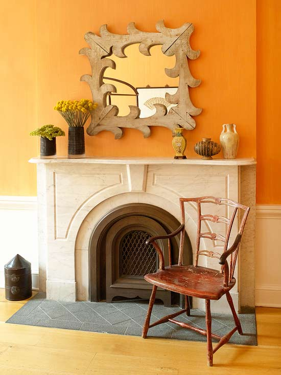 Orange Wall Paint choosing wall paint color - better homes and gardens - bhg