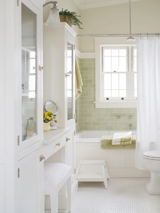 create a cottage-style bathroom