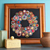 Felted-Wool Folk Art Wreath
