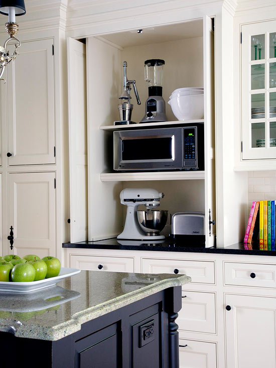 Space saving kitchen appliances - Small space microwave photos ...