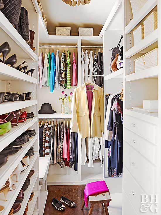 walk in closet organization - Small Walk In Closet Design Ideas