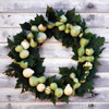 Gourd Wreath with Maple Leaves