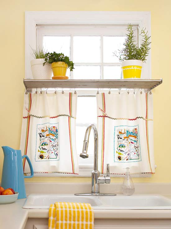 Towel Window Treatment