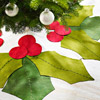 Holly Leaves Christmas Tree Skirt