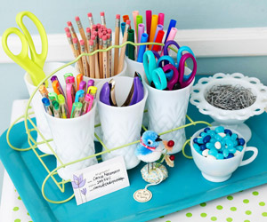 Quick and Clever Ideas for Organizing Crafts Supplies