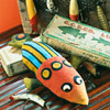 Folk Art Fish Pincushion
