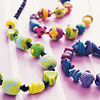 Color Swirl Beaded Jewelry