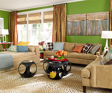 1 Living Room, 4 Color Schemes