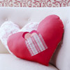 Heart-Shape Pillows with Pocket