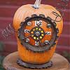 Industrial Clock Pumpkin