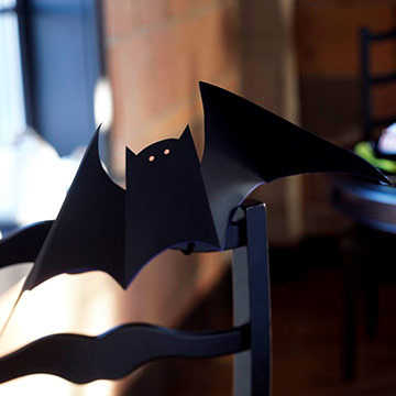 Bat-Shape Chair Decorations for Halloween