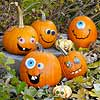 Goofy Smiling Pumpkins