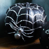 Black-and-Silver Spiderweb Pumpkin