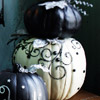 White Pumpkin with Black Embellishments