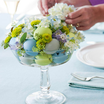 Pretty Spring Centerpieces