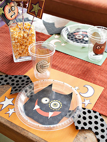 Whimsical Bat Plate for Kids' Halloween Party