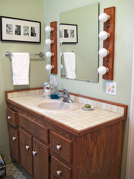 Bathroom vanity makeover ideas for Inexpensive bathroom vanity ideas
