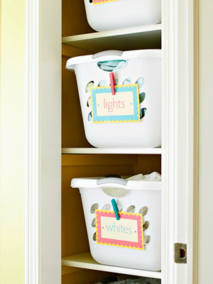 Decorative Labels for Laundry Room Organization