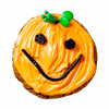 Smiling Jack-o'-Lantern Cookie