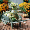 Pumpkin Wheelbarrow Display