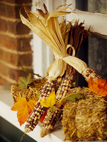 Windowsill Fall Decorations