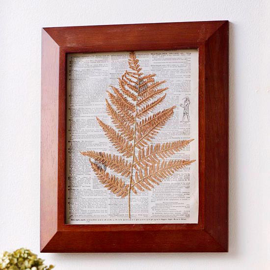 Framed Leaf Decoration