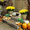 Front Steps Pumpkin Arrangment