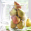 Pears and Glass Centerpiece