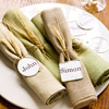 Tagged Napkin Rings