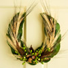 Horseshoe-Shape Fall Wreath