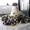 Purple and Green Flowered Cake