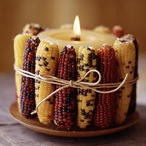 Simple Thanksgiving Candle Displays