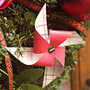 Paper Pinwheel Christmas Ornament